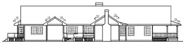 Ranch House Plan 91749 Rear Elevation