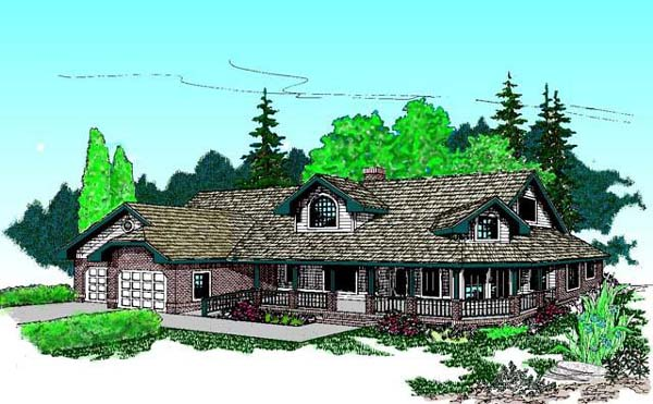 Country House Plan 91751 Elevation