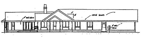 Ranch House Plan 91760 Rear Elevation