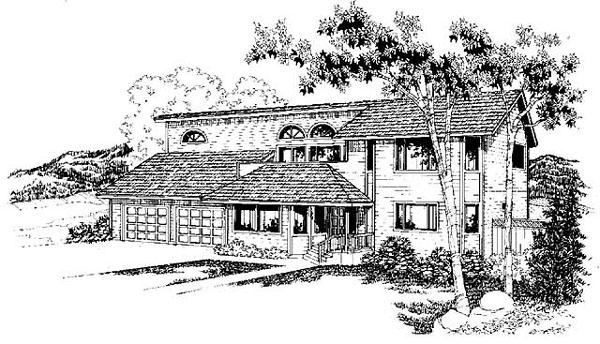 Mediterranean House Plan 91762 Elevation
