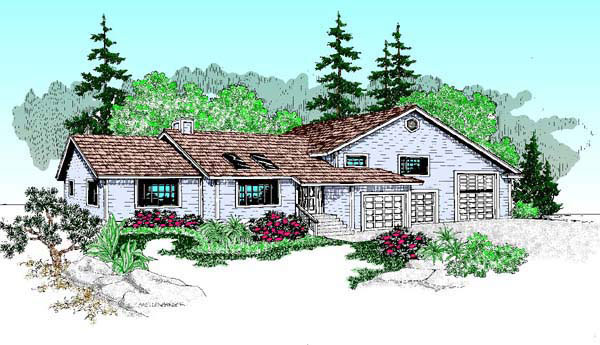 Ranch House Plan 91767 Elevation