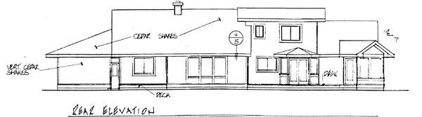 Ranch House Plan 91769 Rear Elevation