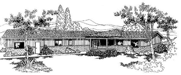 Ranch House Plan 91771 Elevation