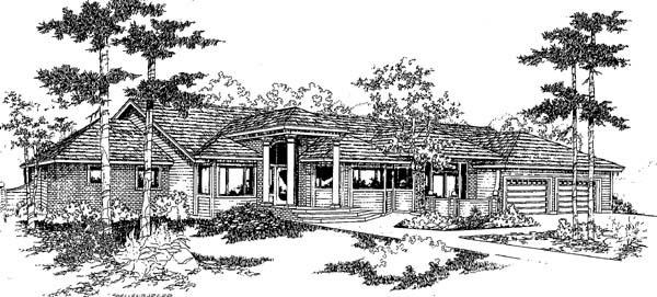 Southwest House Plan 91775 Elevation