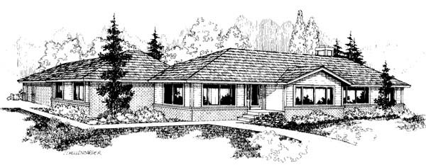 Ranch Southwest House Plan 91778 Elevation