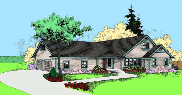 Ranch House Plan 91779 Elevation