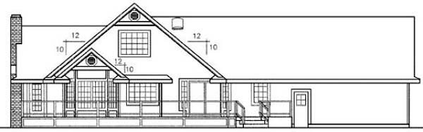 Ranch House Plan 91779 Rear Elevation