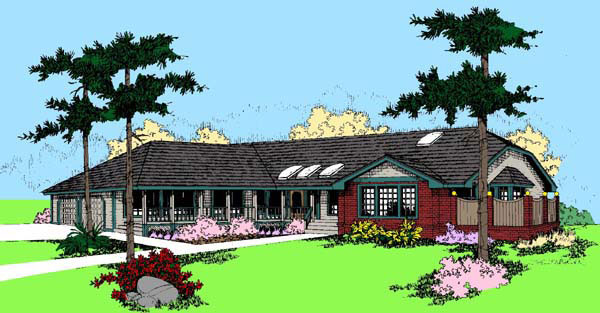 Ranch House Plan 91780 Elevation