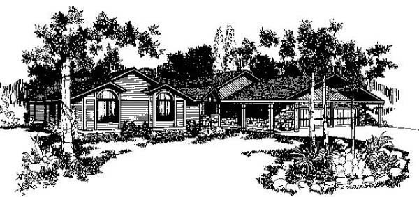 Ranch House Plan 91781 Elevation