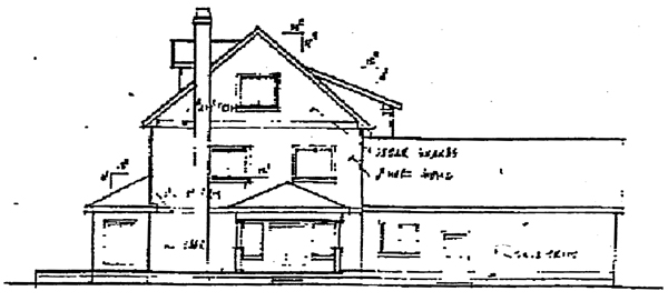Country European House Plan 91795 Rear Elevation
