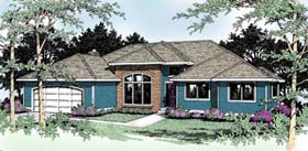 Traditional , Southwest House Plan 91800 with 3 Beds, 2 Baths Elevation