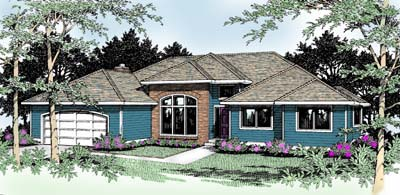Southwest Traditional House Plan 91800 Elevation