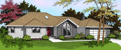 Ranch House Plan 91801 Elevation