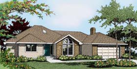 Ranch House Plan 91802 Elevation
