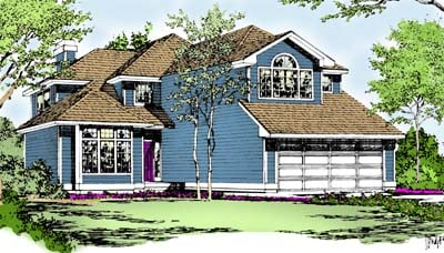 European House Plan 91803 with 3 Beds, 3 Baths Elevation