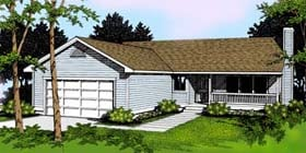 Ranch Traditional House Plan 91807 Elevation