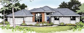 Traditional House Plan 91811 with 3 Beds, 2 Baths, 2 Car Garage Elevation