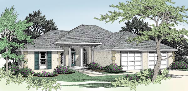 Mediterranean House Plan 91814 Elevation