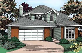 Contemporary Traditional House Plan 91816 Elevation