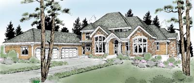 Country Craftsman House Plan 91820 Elevation