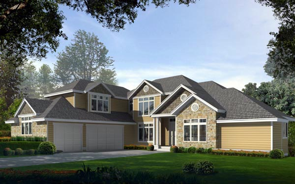 Craftsman , Traditional , Elevation of Plan 91821