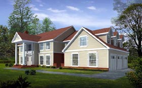 Colonial Traditional House Plan 91822 Elevation