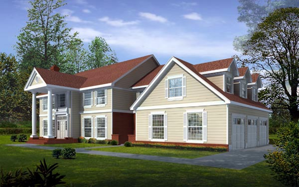 Colonial , Traditional , Elevation of Plan 91822