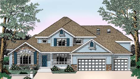 European House Plan 91823 Elevation
