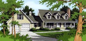Country Farmhouse House Plan 91825 Elevation