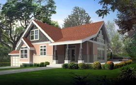 Bungalow , Country , Craftsman House Plan 91826 with 3 Beds, 2 Baths, 2 Car Garage Elevation