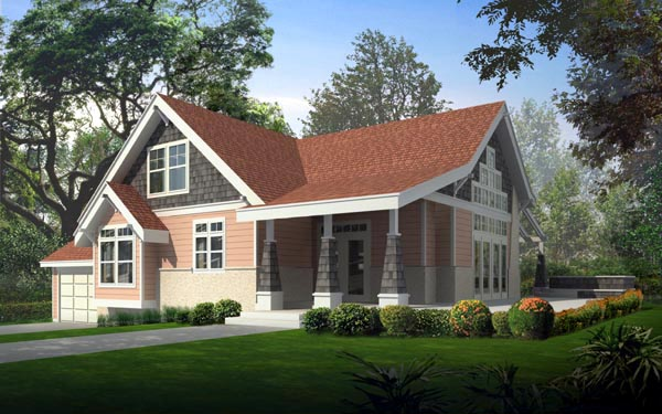 Bungalow Country Craftsman House Plan 91826 Elevation