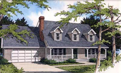 Country Farmhouse House Plan 91827 Elevation