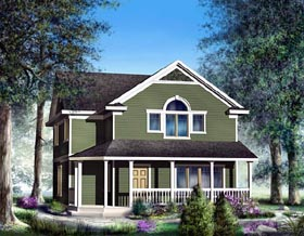 Craftsman , Country , Bungalow House Plan 91829 with 4 Beds, 3 Baths, 2 Car Garage Elevation