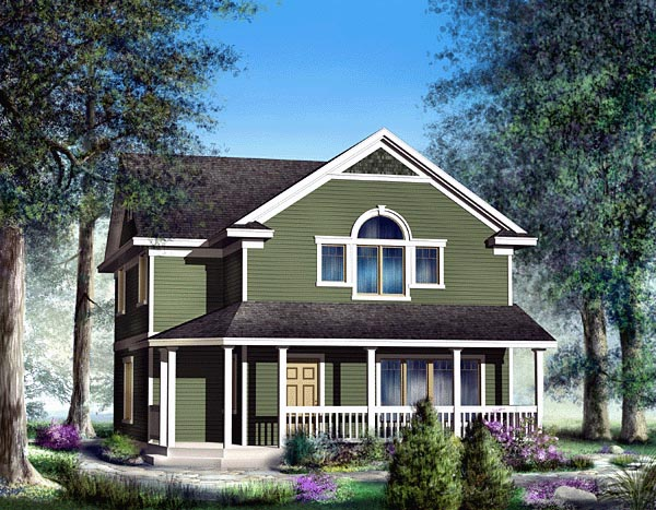 Bungalow, Country, Craftsman House Plan 91829 with 4 Beds, 3 Baths, 2 Car Garage Front Elevation