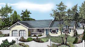 Country , Farmhouse , Ranch House Plan 91833 with 3 Beds, 2 Baths, 2 Car Garage Elevation