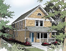 Bungalow Craftsman House Plan 91834 Elevation