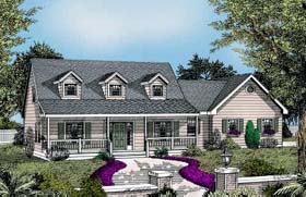 House Plan 91835 | Country Style Plan with 1830 Sq Ft, 3 Bedrooms, 3 Bathrooms, 2 Car Garage Elevation