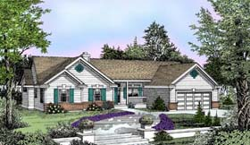 Country , Ranch , Traditional House Plan 91840 with 3 Beds, 2 Baths, 2 Car Garage Elevation