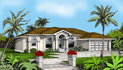Mediterranean House Plan 91841 Elevation