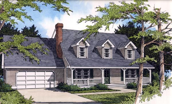 Country Farmhouse House Plan 91846 Elevation