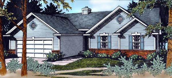 Country Traditional House Plan 91847 Elevation