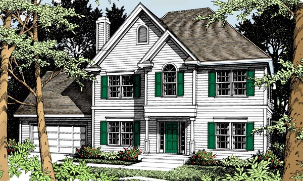 Colonial Traditional House Plan 91848 Elevation