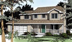 Country , Farmhouse , Traditional House Plan 91849 with 4 Beds, 3 Baths, 2 Car Garage Elevation