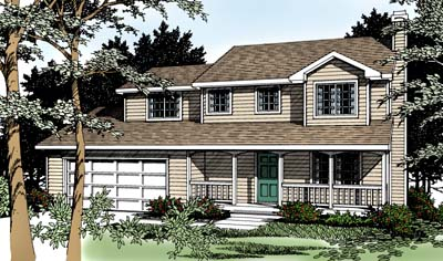 Country Farmhouse Traditional House Plan 91849 Elevation
