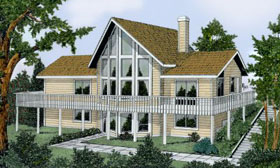 Contemporary House Plan 91850 Elevation