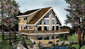 Contemporary House Plan 91851 Elevation