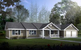 Ranch Traditional House Plan 91853 Elevation
