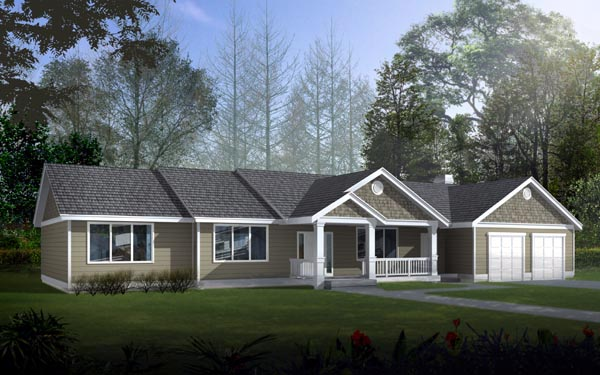 Ranch , Traditional House Plan 91853 with 3 Beds, 2 Baths, 2 Car Garage Elevation