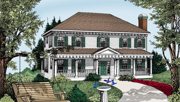 Colonial Southern House Plan 91854 Elevation