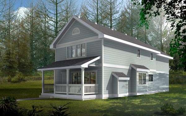 Bungalow Craftsman House Plan 91857 Elevation